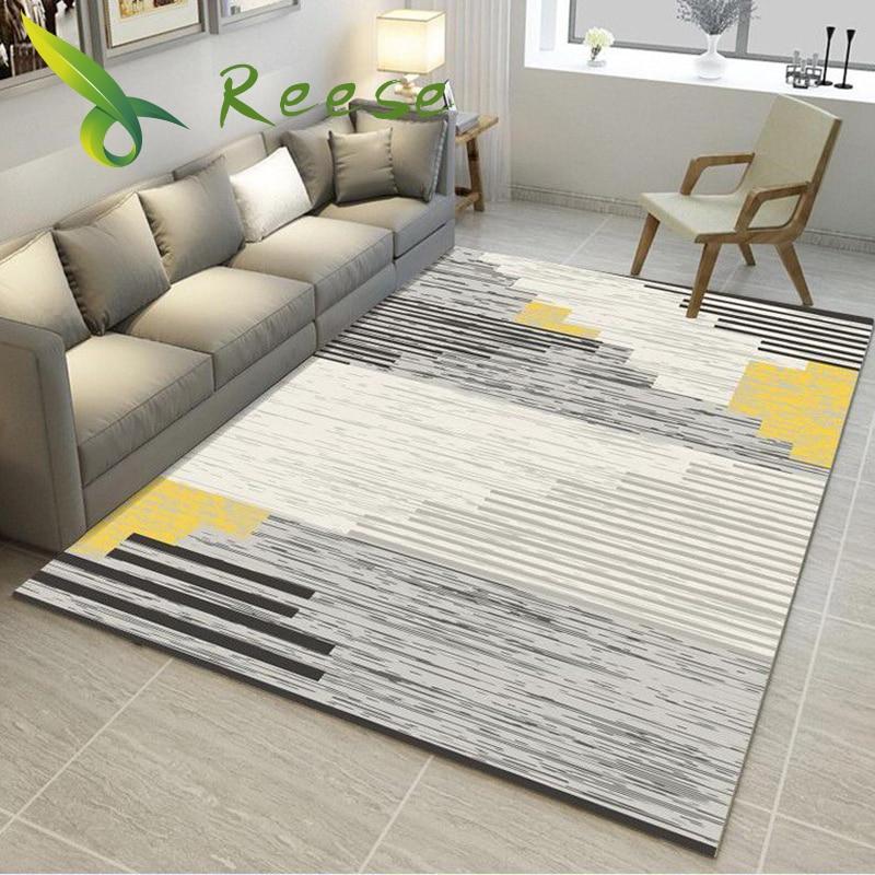 שטיח שטיח לסלון הדפסת 3D גיאומטרי עץ רצפת שטיח החלקה Antifouling שטיח לחדר שינה סלון במפעל אספקת
