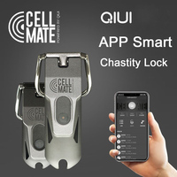 Intelligent APP Chastity Cage Remote Control Penis Lock Male Chastity Device with 2 Size Metal Cock Rings Sex Toys For Men