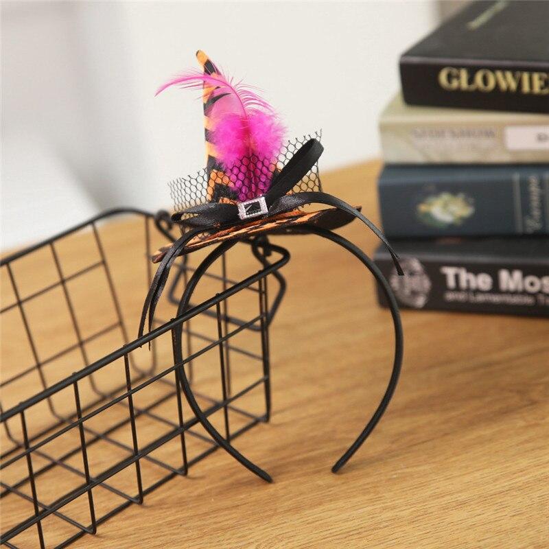 New Mini Witch Hat Headband Halloween Headbands For girls Fancy Dress Props Cosplay Party Gifts Headwear Kids 30Jul3112