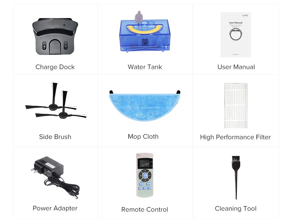 H241557e3494741388f53c8d3507131daq ILIFE V5sPro Robot Vacuum Cleaner vacuum Wet Mopping Pet hair and Hard Floor automatic Powerful Suction Ultra Thin disinfection