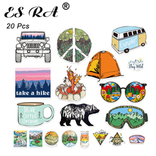 20 Pcs/Set Car Stickers and Decals Outdoor Camping Suitacase Stickers Pegatinas Fridge  Skateboard Glass Room Waterproof PVC