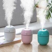 Ultrasonic mini air humidifier 200 ml mist maker aroma diffuser for home USB mist maker with LED night light
