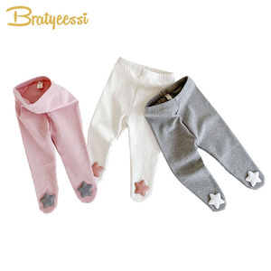 New Cute Stars Baby Tights All Match Kids Pantyhose Cotton Autumn Spring Baby Girl Boy Tights for Newborn Infant Tights