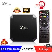 Meilleur X96mini IPTV Box Android 9.0 Tv box 1G 8G 2G 16G lecteur multimédia x96 Amlogic S905W smart ip tv décodeur navire de france