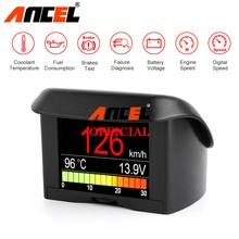 Ancel A202 Boordcomputer Voor Auto OBD2 Digitale Display Brandstofverbruik Speed Voltage Water Temperatuurmeter Obd Hud display