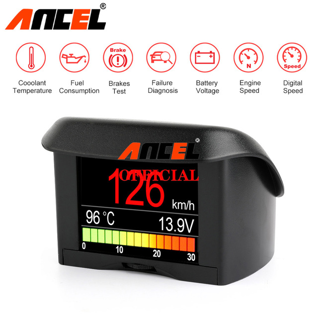 Ancel A202 On board Computer For Car OBD2 Digital Display Fuel Consumption Speed Voltage Water Temperature Gauge OBD HUD Display
