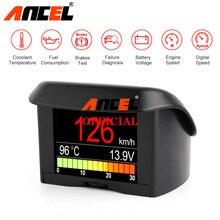Ancel A202 On kart bilgisayar araba OBD2 dijital ekran yakıt tüketimi hızlı voltaj su sıcaklık göstergesi OBD HUD ekran
