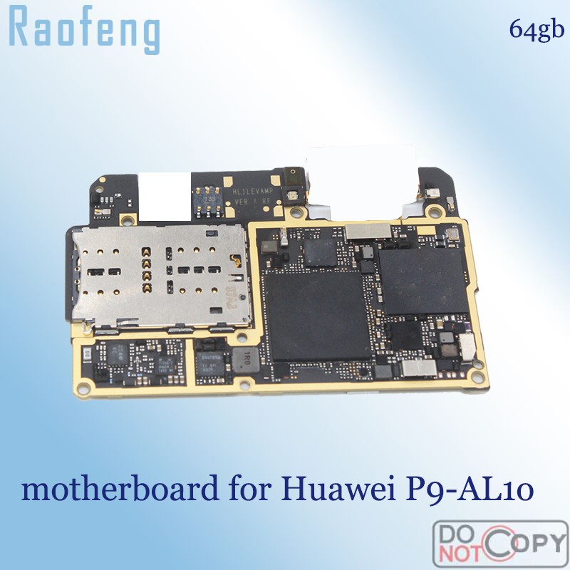 Raofeng Unlocked for Huawei P9 AL10 motherboard original used mainboard  whole function 64gb with chips Logic Board|Mobile Phone Motherboards| |  - title=