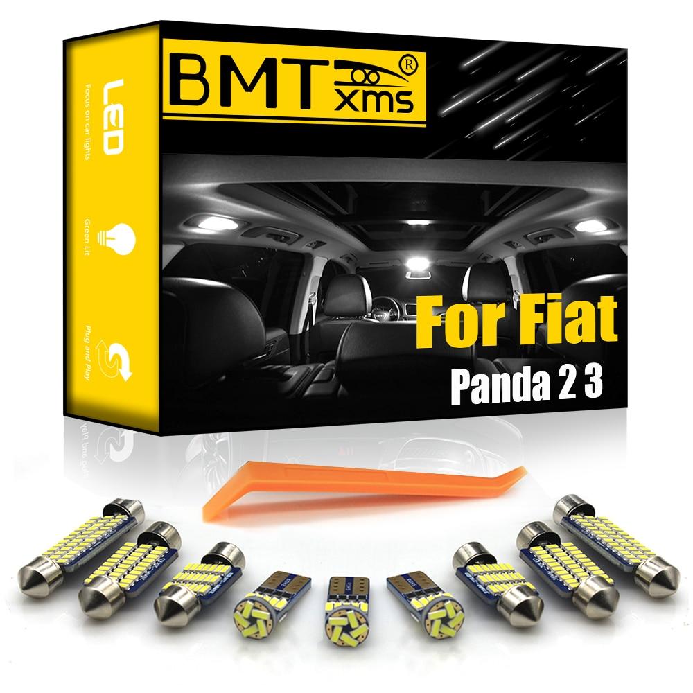 BMTxms для Fiat Panda 2 3 II III 169 312 319 2003-2018 светодиодный купольный светильник для салона автомобиля, автомобильный светильник Canbus, аксессуары