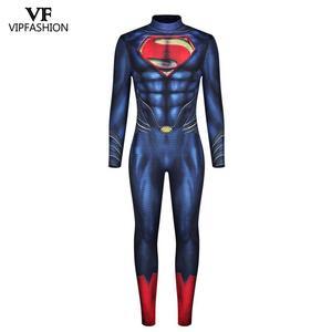 Image 4 - VIP moda yeni Deadpool Cosplay kostümleri erkekler için tulum kas Cosplay süper kahraman Superman baskılı komik Zentai kostümleri