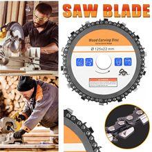 Melhor venda moedor de corrente escultura em madeira disco 5 Polegada para 125mm ângulo moedor 14 dente disco de corte para trabalhar madeira ferramenta rotativa
