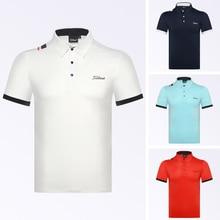 T-Shirt Short-Sleeve Golf-Clothing Golf-Wear Sports Summer Men Breathable Sweat-Absorbing