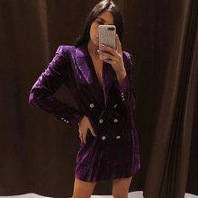 Женское бархатное мини платье ardm za винтажное офисное с карманами