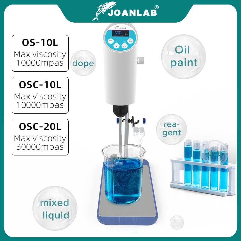 JOANLAB Official Store Laboratory Stirrer Electric Stirrer Digital Display Overhead Stirrer Lab Mixer Lab Equipment 110V To 220V 3