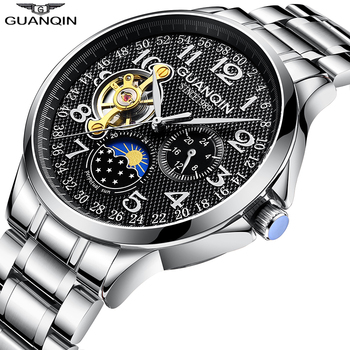 GUANQIN 2020 men's watches top brand luxury business Automatic clock Tourbillon waterproof Mechanical watch relogio masculino