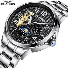 GUANQIN 2020ผู้ชายหรูหราอัตโนมัตินาฬิกาTourbillonนาฬิกากันน้ำRelogio Masculino