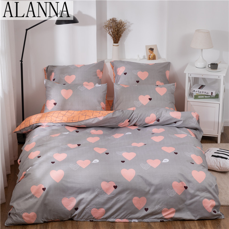 Alanna X-ALL Printed Solid bedding sets Home Bedding Set 4-7pcs High Quality Lovely Pattern with Star tree flower 2