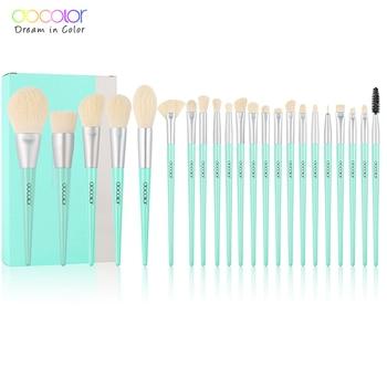 Docolor 22pcs Makeup brushes set Professional Synthetic Hair brushes Foundation Powder Contour Eyeshadow make up brushes недорого
