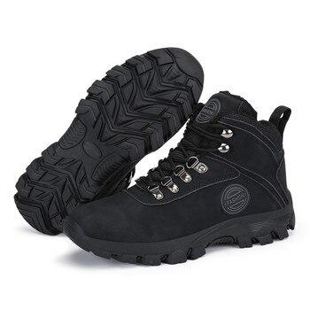 أحذية الشتاء الرجال أحذية الثلوج في الهواء الطلق الدافئة القطيفة قطيع الجلود الجوارب الصبي الكاحل الرجل في رياضة حذاء مسطح منصة بوتاس 2