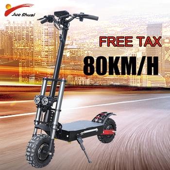 Patinete eléctrico todoterreno con neumático, 11 pulgadas, 3200W, 60V/52V, plegable, con asiento, resistente al agua, velocidad rápida