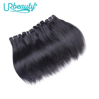 50g/pc Straight hair bundles human hair bundles UR Beauty Remy Hair Weaving Natural black color Can buy 4 6 8 pieces Very soft