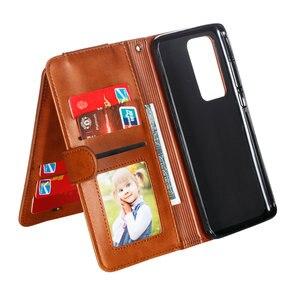 Image 2 - P40Pro P40 Lite P 40 Flip Case Multifunction Zipper Leather Wallet for Huawei P40 Pro Plus Case Card Slot Funda Huawei P40 Cover