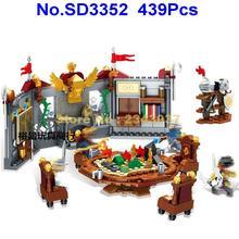 Sd3352 439 шт призрачные племена мировые племена войны король капитан Ментор строительные блоки 4 фигурки игрушки