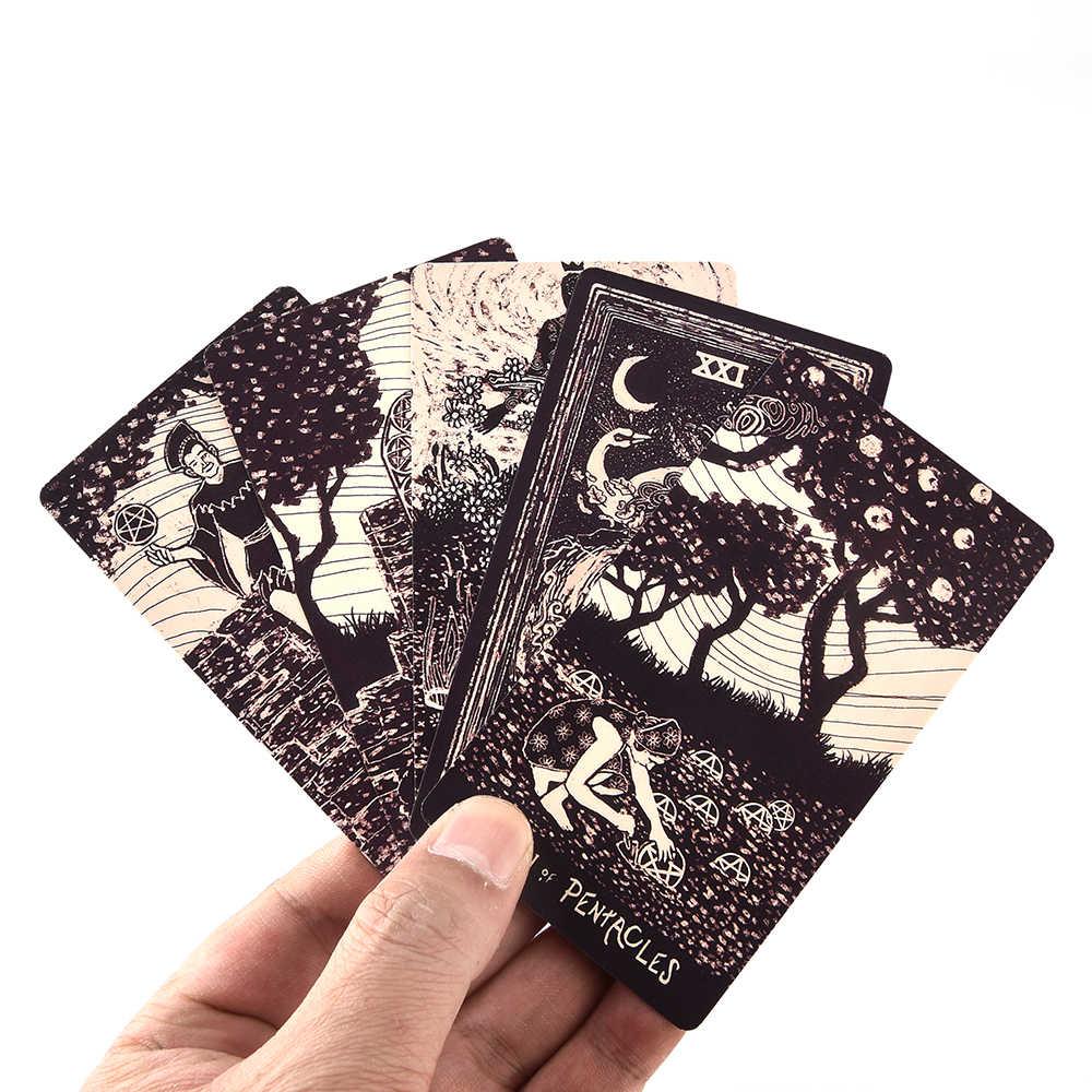 78 Tarot kartları güverte İngilizce ışık vizyonları kartları güverte Oracles elektronik kılavuz kitap oyunu oyuncak kehanet kurulu oyunu