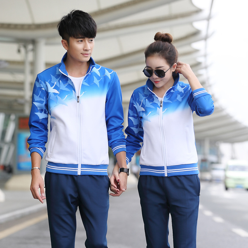 Spring And Autumn Couples Sports Set Long Sleeve School Uniform Running Casual Sports Clothing Group Clothes Large Size Men And