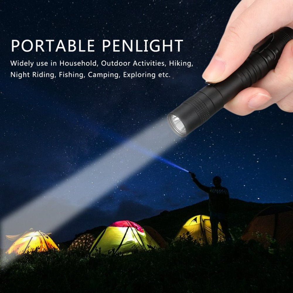LED Flashlight Torch Portable Mini Pocket Penlight Waterproof Q5 2000LM Aluminum Alloy 1 Switch Mode Light For Hunting Camping