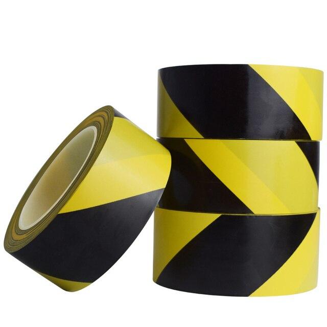 33M חזק pvc אזהרת בטיחות קלטת שחור צהוב עמיד למים עצמי דבק מתיחה סימון קלטת עבור מפעל מחסן מקום עבודה