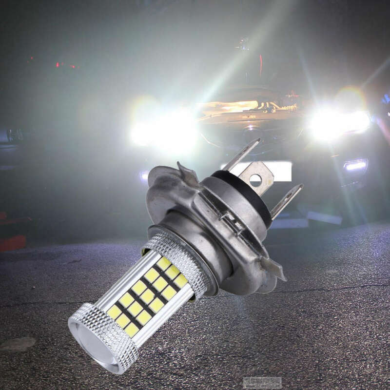 CA DC 12V H4 2835 63 LED 6000K Car Projector Fog Driving Light Bulb White