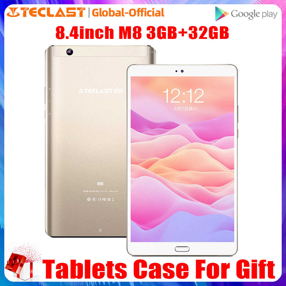 Teclast M8 Tablet 8.4 Inch Android 7.1 3 Gb Ram 32 Gb Rom Tabletten 2560 × 1600 Quad Core Dual camera Wifi Gps Bluetooth4.0 Tablet Pc