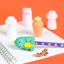 Cute Cartoons Pencil Sharpener Claw Shape Pencil Cutter Portable Safety Pen Knife Office Stationery Child Kawaii Sharpener