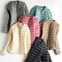Winter Women's Clothing Down Coat Ultra Light White Duck Down