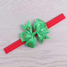 Christmas Girls Boy Headwear Infant Hair Band Bow Headbands Flower Hair Accessories Children Adjustable Stretch Hairband wlosow(China)