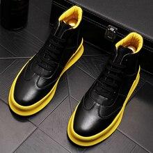 Yüksek kaliteli erkek lüks moda hakiki deri çizmeler nefes platform ayakkabılar bahar sonbahar bileğe kadar bot zapatos hombre botas
