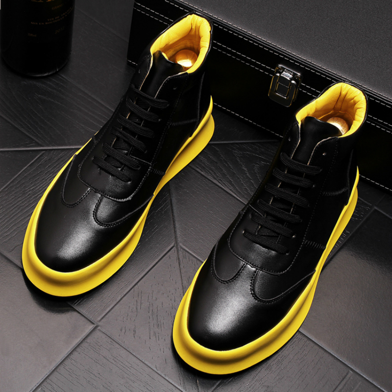High Quality Men's Luxury Fashion Genuine Leather Boots Breathable Platform Shoes Spring Autumn Ankle Boot Zapatos Hombre Botas
