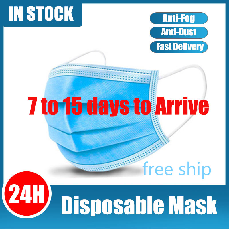 200PCS Anti Gas Dust Mouth Face Masks Mask Mascherine Mascara Anti-droplet Mascarillas De Disposable Mouth Face Mask