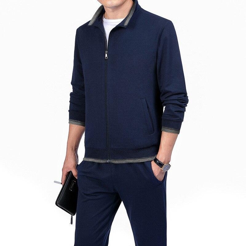Spring Autumn Men's Sweatshirt Set Two-piece Set Loose Sportwear Suit Casual Wear Tracksuit Men Dad Suit Chandal Hombre