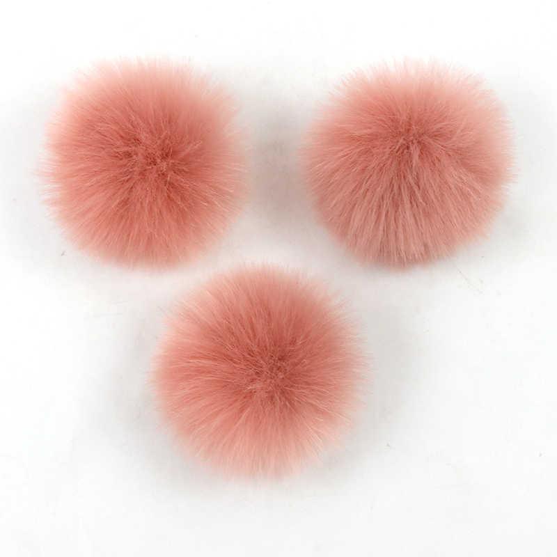 Colorful 10 Centimetri FAI DA TE Naturale Pelliccia di Volpe Pompon di Pelliccia di Procione Pom Poms Balls vera Pelliccia Pompon per Cappelli Borse Sciarpe accessori