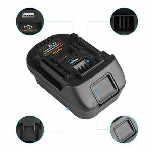 Image 4 - DM18M Battery Converter Adapter USB Charger For Milwakee 18V M18 For Dewalt 20V For Makita 18V bl1830 Li ion Battery