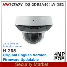 Оригинальная английская камера hikvision DS 2DE2A404IW DE3 PTZ 2 дюймовый ИК POE 4MP 4X работает от darkfighter ИК сетевой скоростной купол