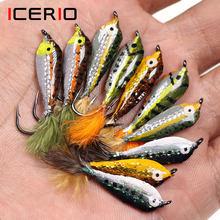 ICERIO 3PCS Epoxy Corpo Peixinhos Streamer Moscas Truta e Rainbow Trout Fly Fishing Lure Bait #4