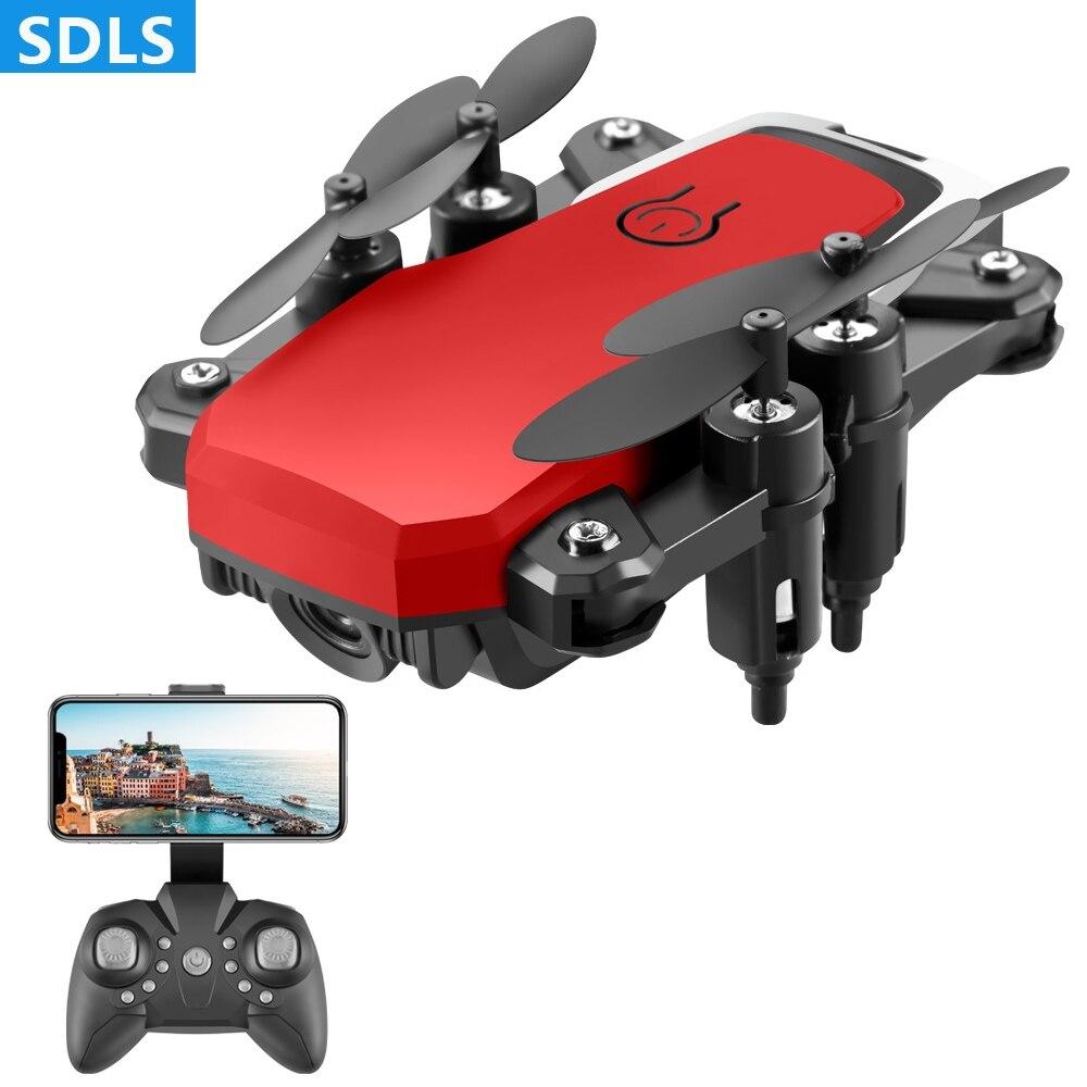 Mini Drone 4K HD caméra Wifi Transmission en temps réel quadrirotor une clé retour RC hélicoptère sans tête Mode pliable Dron jouets