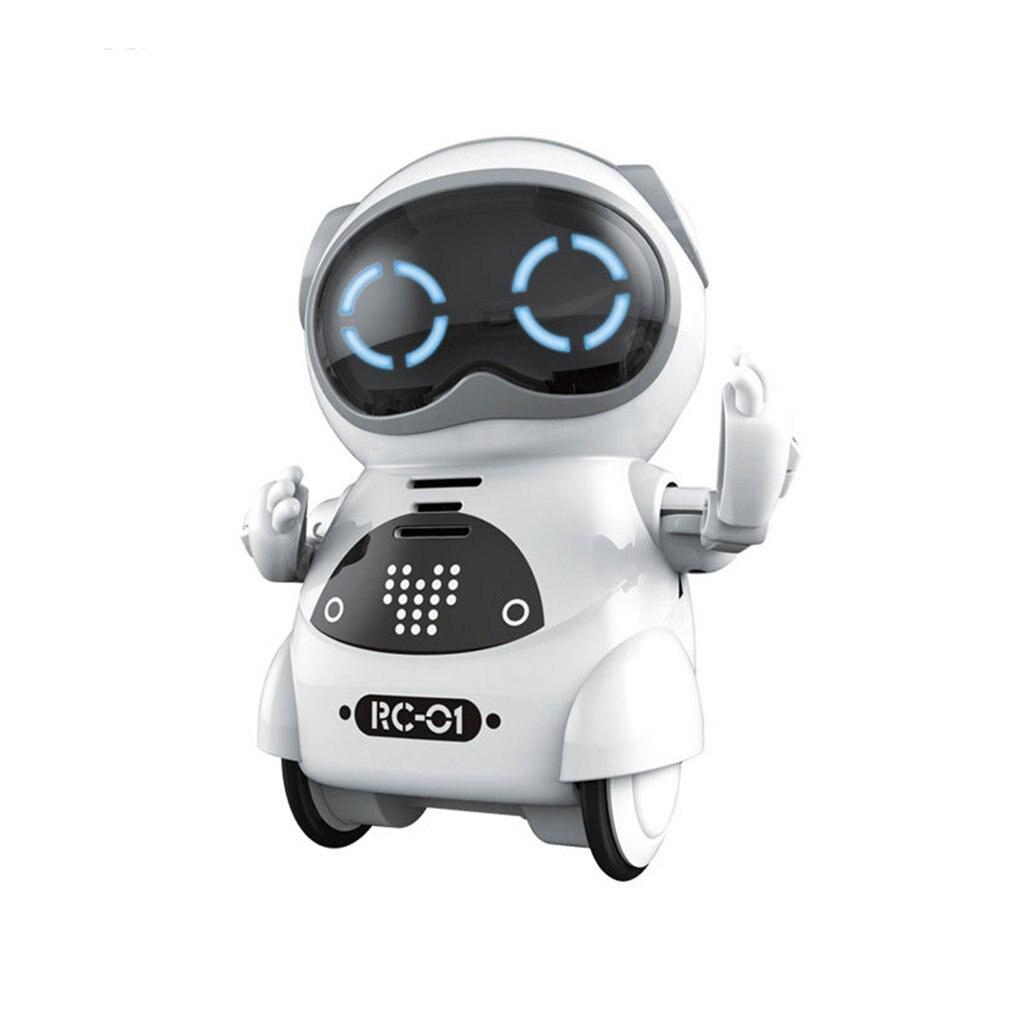 Poche RC Robot parlant interactif Dialogue reconnaissance vocale enregistrement chant danse raconter histoire Machine Mini RC Robot cadeau