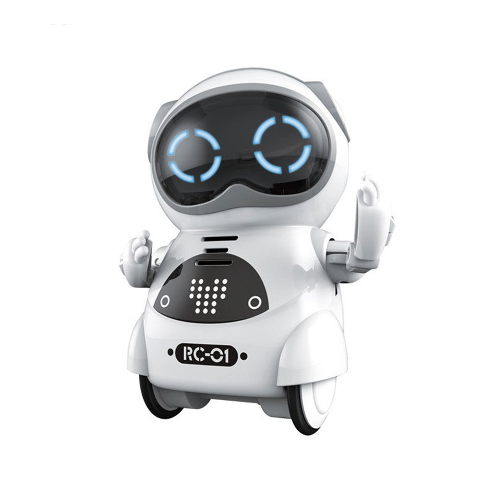 Pocket RC Robot Talking Interactive Dialogue Voice Recognition Record Singing Dancing Telling Story Machine Mini RC Robot Gift