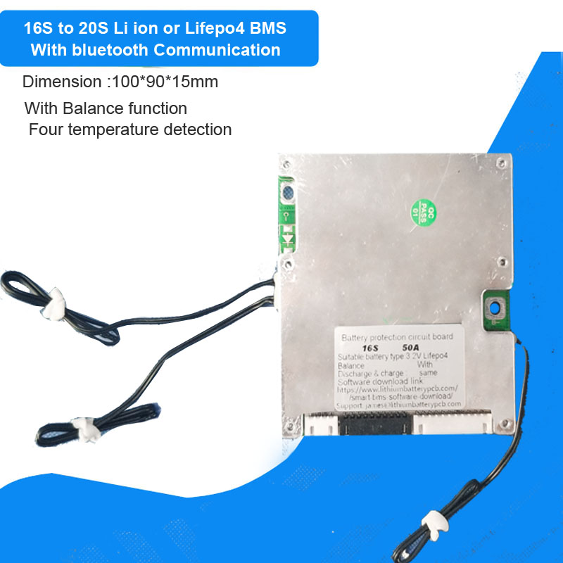 16S 17S 18S 20S li ion or Lifepo4 Battery BMS