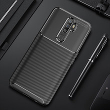 Voor OPPO A9 2020 Case Cover Carbon Fiber Soft TPU Siliconen Shockproof Soft Shockproof Case voor OPPO A9 A5 2020 telefoon Case Cover(China)
