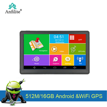 Capacitive-Screen Gps-Navigator Truck Anfilite Camera Car Gps 7inch 16GB WIFI with Rear